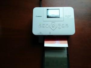 Печать фотографии на Canon Selphy CP820. Второй проход.