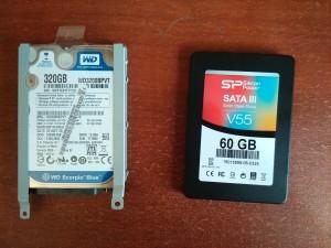 Установка SSD в ноутбук