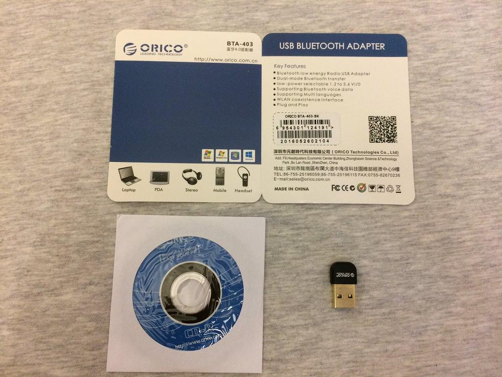 Обзор Bluetooth-адаптера Orico BTA-403