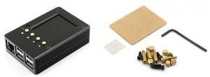 """Обзор алюминиевого корпуса с 2.2"""" дисплеем, ИК-портом и кнопками для Raspberry Pi 3"""