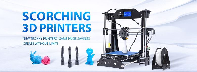 Новые акции в GearBest: распродажа 3D-принтеров + бесплатная лотерея с призами