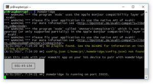 Установка HomeBridge на Raspberry Pi 3