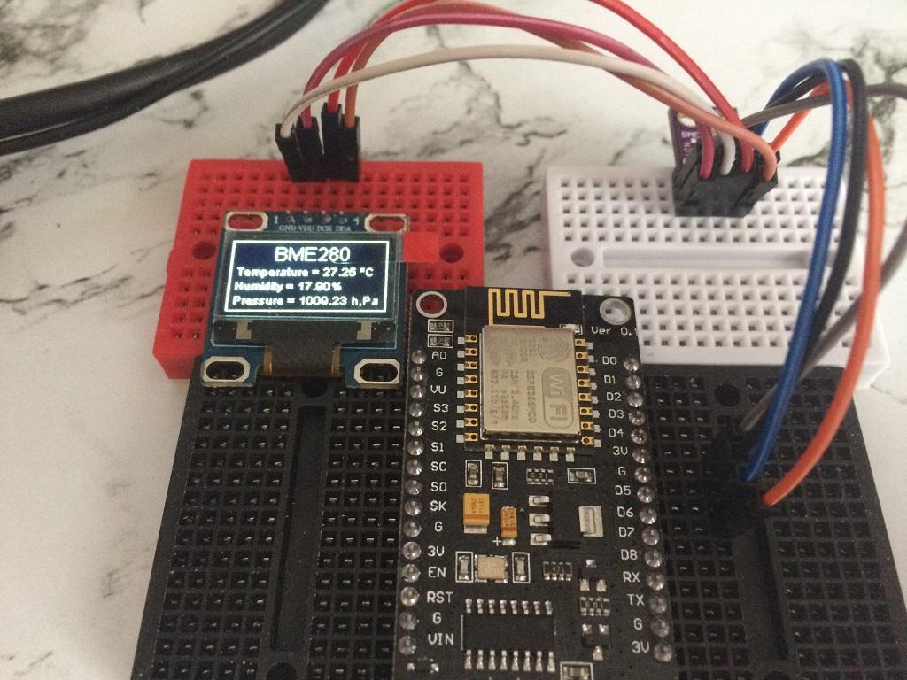 Домашняя метеостанция на ESP8266 и датчике BME280