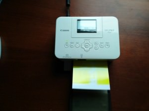Печать фотографии на Canon Selphy CP820. Первый проход.
