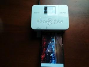 Печать фотографии на Canon Selphy CP820. Фото готово.