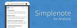 Simplenote - удобная программа для ведения заметок на Android