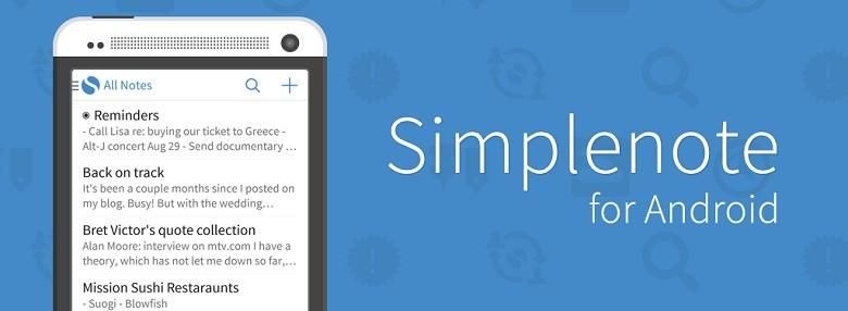 Simplenote – удобная программа для ведения заметок на Android