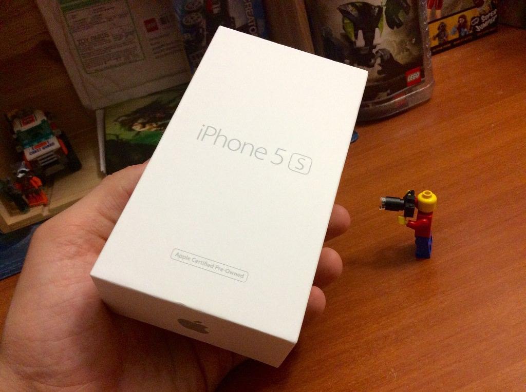 """iphone 5s """"как новый"""" коробка"""
