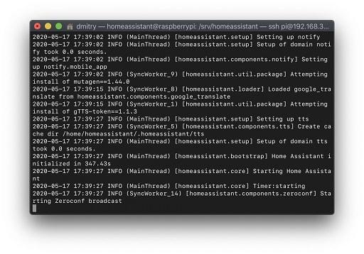 Установка и настройка Home Assistant на Raspberry Pi